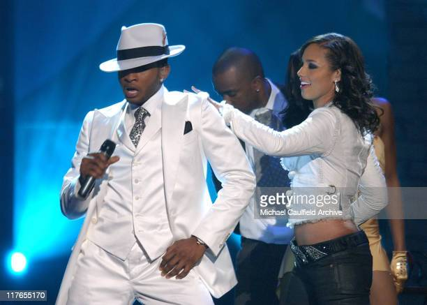 Alicia Keys and Usher perform 'My Boo' during 32nd Annual American Music Awards Show at Shrine Auditorium in Los Angeles California United States