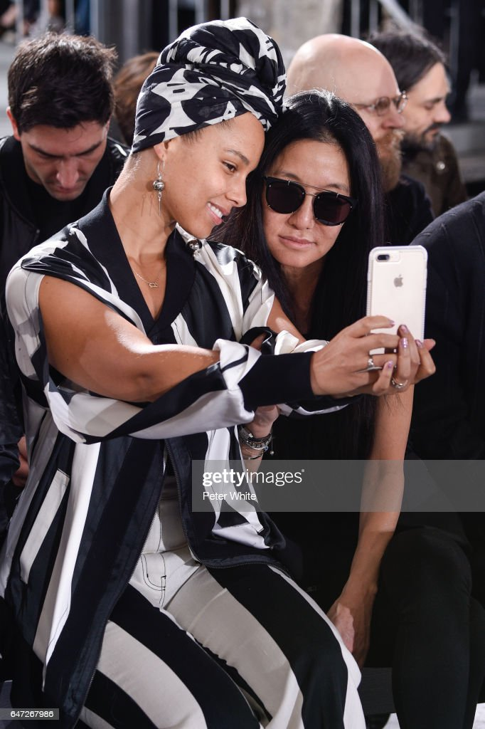 Alicia Keys and Vera Wang attend the Rick Owens show as part of the Paris Fashion Week Womenswear Fall/Winter 2017/2018 on March 2, 2017 in Paris, France.