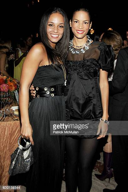 Alicia Keys and Veronica Webb attend NEW YORK CITY BALLET 2008 Opening Night Dinner Party at David H Koch Theater on November 25 2008 in New York City