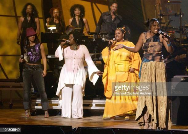 Alicia Keys, Angie Stone, Jill Scott and Yolanda Adams perform a medley for the Humanitarian Award to Muhammad Ali
