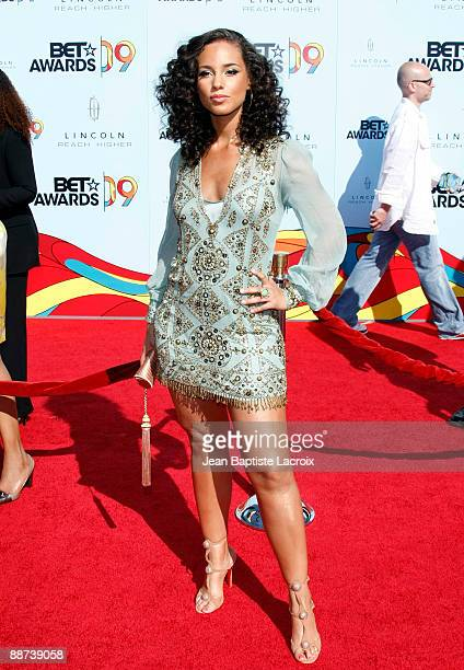 Alicia Keys arrives at the 2009 BET Awards at The Shrine Auditorium on June 28 2009 in Los Angeles California
