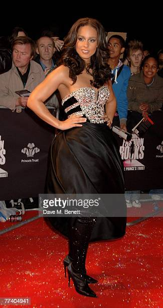 Alicia Keys arrives at the Swarovski Fashion Rocks in aid of The Prince's Trust at the Royal Albert Hall on October 18 2007 in London England