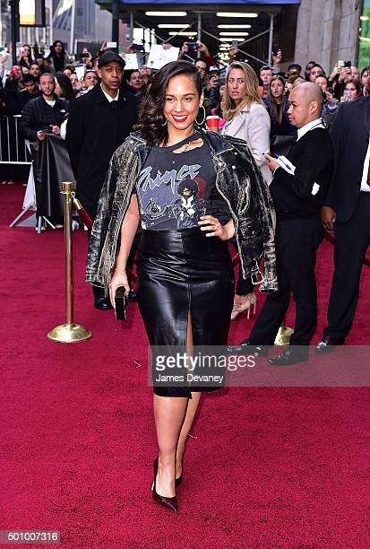 Alicia Keys arrives to Billboard's 10th Annual Women In Music at Cipriani 42nd Street on December 11, 2015 in New York City.