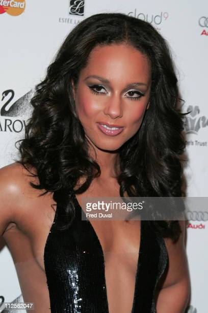 Alicia Keys arriving at the Swarovski Fashion Rocks on October 18 2007 in London England