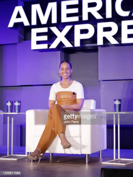 Alicia Keys at the American Express Global Women's Conference Unveiling The Ambition Project on February 10, 2020 in Miami Beach, Florida.