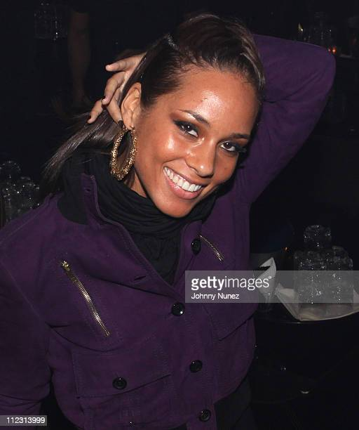Alicia Keys attends a party at M2 Ultra Lounge on December 18 2009 in New York City