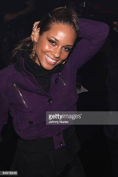 Alicia Keys attends a party at M2 Ultra Lounge on December 18, 2009 in New York City.