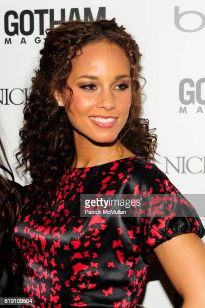 Alicia Keys attends ALICIA KEYS Hosts GOTHAM MAGAZINES Annual Gala Presented by BING at Capitale on March 15, 2010 in New York City.