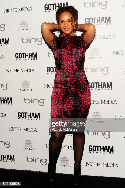 Alicia Keys attends ALICIA KEYS Hosts GOTHAM MAGAZINES Annual Gala Presented by BING at Capitale on March 15 2010 in New York City