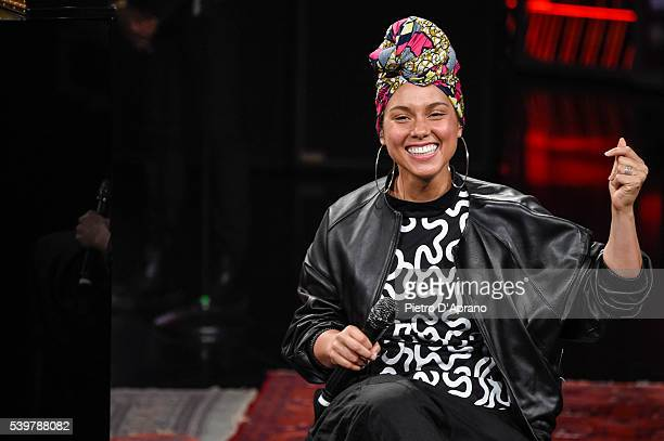Alicia Keys attends at 'Che Tempo Che Fa' Tv Show on June 12 2016 in Milan Italy