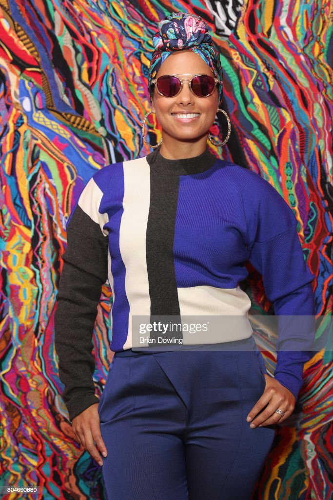 Alicia Keys attends Bacardi X The Dean Collection Present: No Commission on June 30, 2017 in Berlin, Germany.