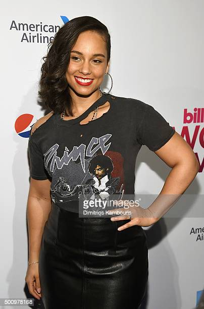Alicia Keys attends Billboard Women In Music 2015 at Cipriani 42nd Street on December 11 2015 in New York City