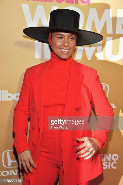 Alicia Keys attends Billboard's 13th Annual Women In Music Event at Pier 36 on December 06 2018 in New York City