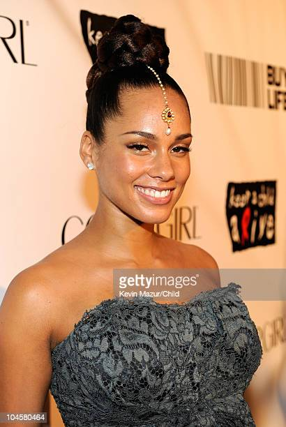 Alicia Keys attends Keep A Child Alive's 7th annual Black Ball at Hammerstein Ballroom on September 30 2010 in New York City