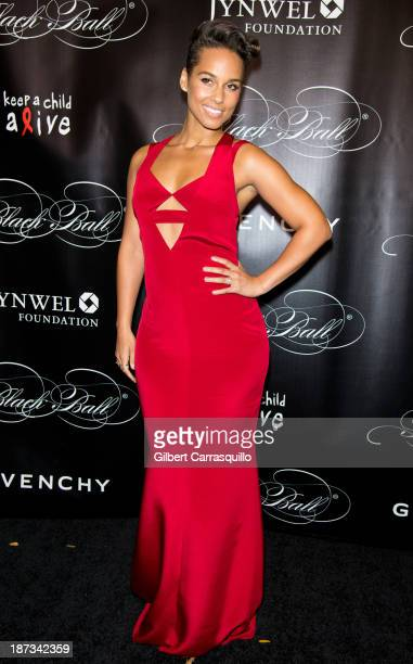 Alicia Keys attends the 10th annual Keep A Child Alive Black Ball at Hammerstein Ballroom on November 7 2013 in New York City