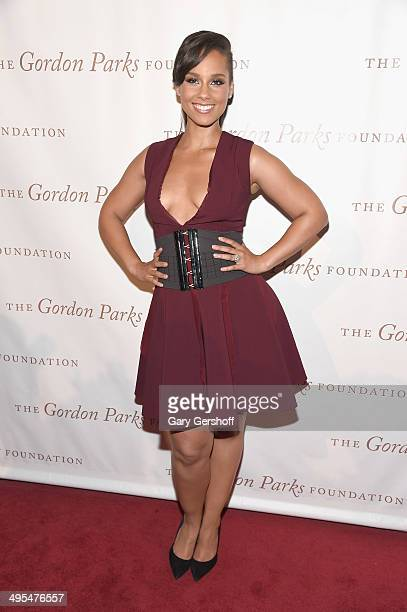 Alicia Keys attends the 2014 Gordan Parks Foundation Awards Dinner Auction at Cipriani Wall Street on June 3 2014 in New York City
