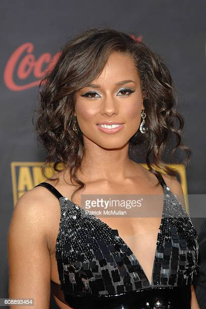 Alicia Keys attends The 35th Annual America Music Awards Arrivals at Nokia Theater on November 18 2007 in Los Angeles CA
