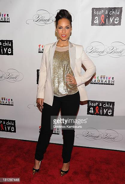 Alicia Keys attends the 8th annual Keep A Child Alive Black Ball at the Hammerstein Ballroom on November 3 2011 in New York City