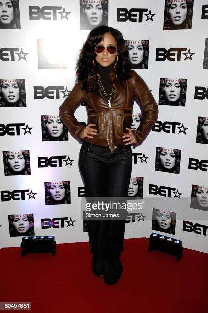 Alicia Keys attends the Black Entertainment Television launch party at the Cafe de Paris on March 1 2008 in London England