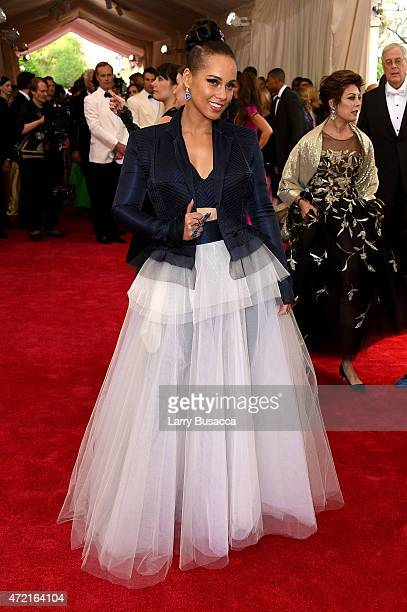 "Alicia Keys attends the ""China: Through The Looking Glass"" Costume Institute Benefit Gala at the Metropolitan Museum of Art on May 4, 2015 in New..."