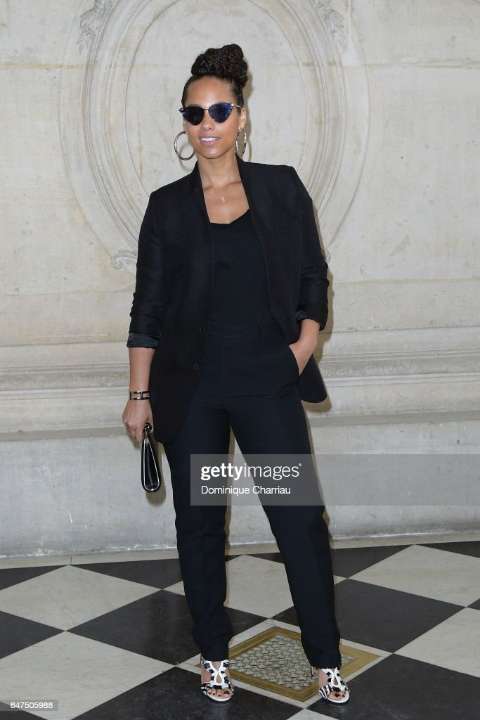 Alicia Keys attends the Christian Dior show as part of the Paris Fashion Week Womenswear Fall/Winter 2017/2018 on March 3, 2017 in Paris, France.