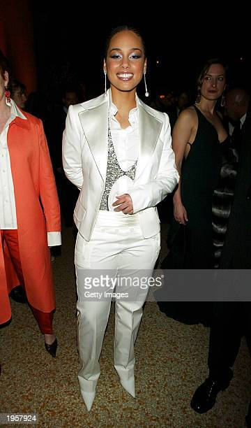 Alicia Keys attends the Costume Institute Benefit Gala sponsored by Gucci April 28 2003 at The Metropolitan Museum of Art in New York City