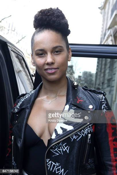 Alicia Keys attends the Faith Connexion show as part of the Paris Fashion Week Womenswear Fall/Winter 2017/2018 on March 2 2017 in Paris France