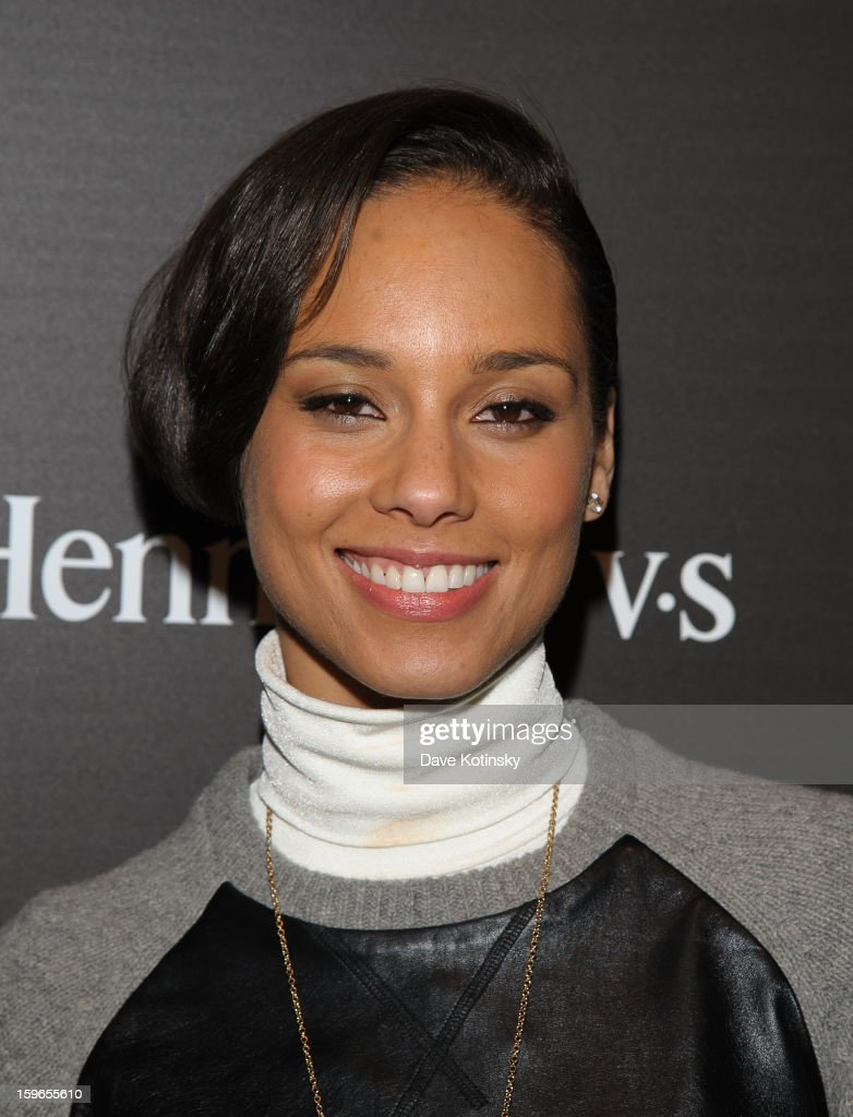 Alicia Keys attends the Hennessy VS Presents 'The Inevitable Defeat of Mister and Pete' sponsored by Reebok and Blackberry at the Julie Nester Gallery on January 17, 2013 in Park City, Utah.