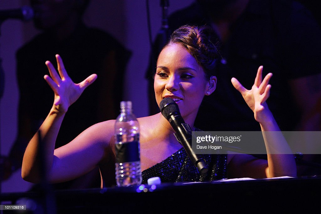 Alicia Keys attends the Keep A Child Alive Black Ball at held at St John's, Smith Square on May 27, 2010 in London, England.