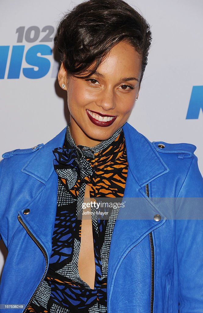 Alicia Keys attends the KIIS FM's Jingle Ball 2012 held at Nokia Theatre LA Live on December 3, 2012 in Los Angeles, California.