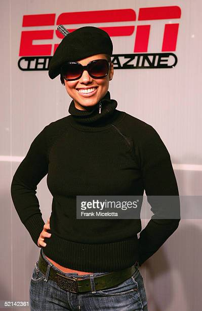 Alicia Keys attends the NEXT House Host ESPN The Magazine Alicia Keys Charity Event on February 5 2005 in Jacksonville Florida