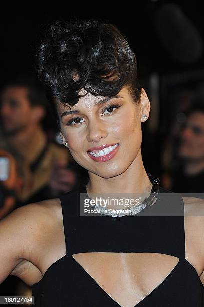 Alicia Keys attends the NRJ Music Awards 2013 at Palais des Festivals on January 26 2013 in Cannes France
