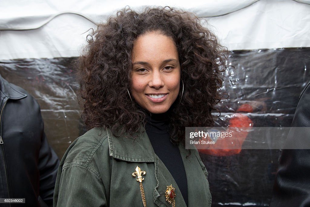 Alicia Keys attends the rally at the Women's March on Washington on January 21, 2017 in Washington, DC.