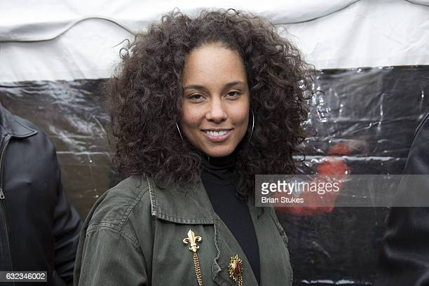 Alicia Keys attends the rally at the Women's March on Washington on January 21 2017 in Washington DC