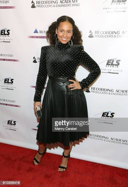 Alicia Keys attends the Recording Academy Producers and Engineers Wing presents 11th Annual Grammy Week event honoring Alicia Keys and Swizz Beatz at...