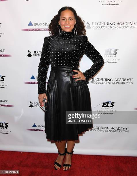 Alicia Keys attends the Recording Academy Producers Engineers Wing 11TH annual GRAMMY¨ Week event honoring international music icons Alicia Keys and...