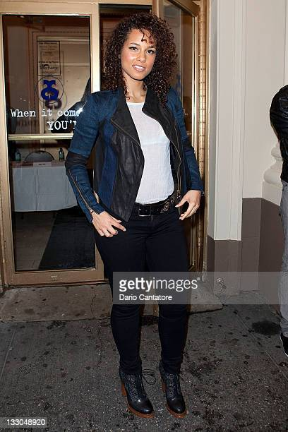Alicia keys jacket pictures and photos getty images alicia keys attends the stick fly meet and greet at cort theatre on november m4hsunfo