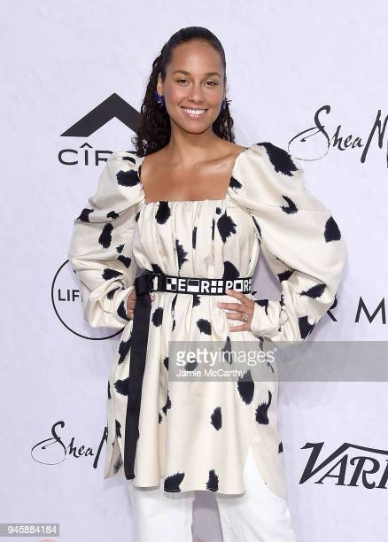Alicia Keys attends Variety's Power Of Women New York at Cipriani Wall Street on April 13 2018 in New York City