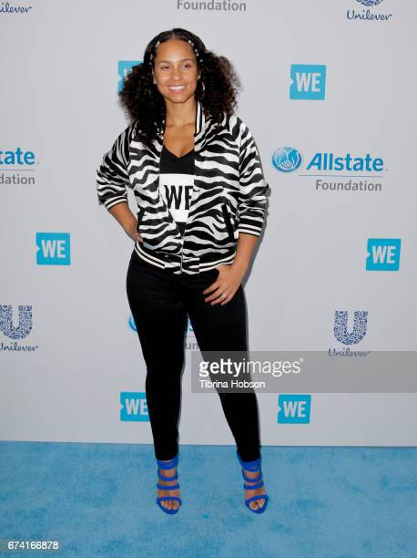 Alicia Keys attends 'We Day' California 2017 at The Forum on April 27 2017 in Inglewood California