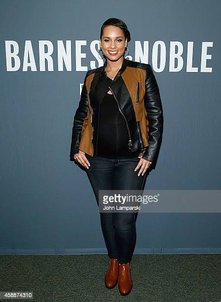 Alicia Keys' Blue Moon From The Journals Of Mama Mae LeeLee Book Release at Barnes Noble Tribeca on November 12 2014 in New York City