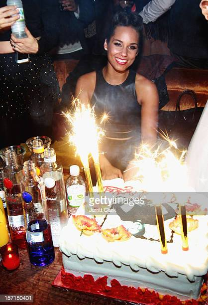 Alicia Keys celebrates her Girl On Fire Album Release Powered By CiROC Vodka at The Box on November 27 2012 in New York City
