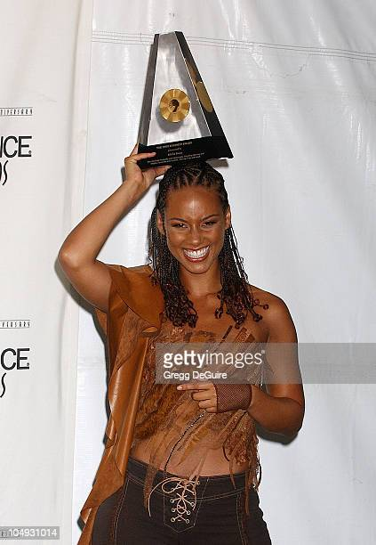 Alicia Keys during 2002 Essence Awards Press Room at Universal Amphitheater in Universal City California United States