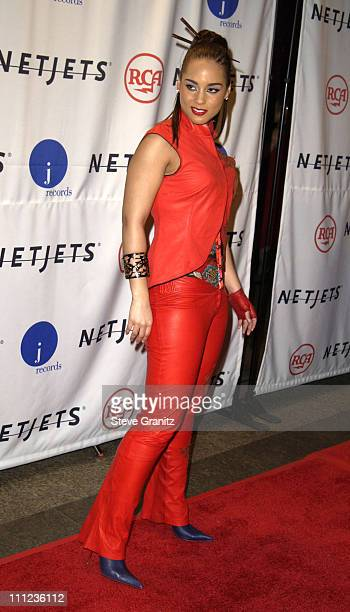 Alicia Keys during 2003 Clive Davis PreGRAMMY Party Arrivals at The Regent Wall Street in New York City New York United States