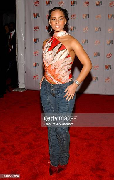 Alicia Keys during 2003 VIBE Awards Arrivals at Civic Auditorium in Santa Monica California United States