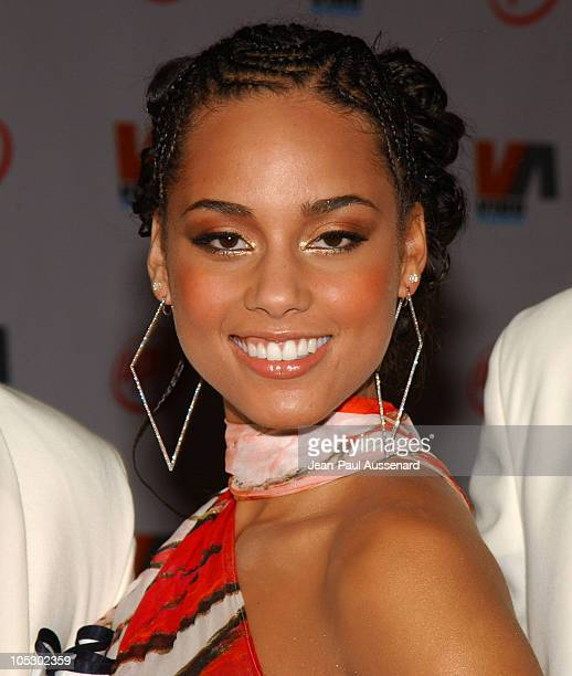 Alicia Keys during 2003 VIBE Awards Arrivals at Civic Auditorium in Santa Monica California United States