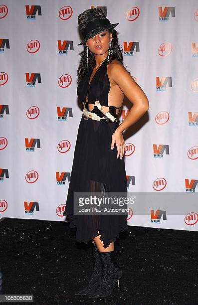 Alicia Keys during 2003 VIBE Awards Pressroom at Civic Auditorium in Santa Monica California United States