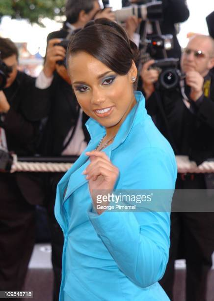 Alicia Keys during 2004 Cannes Film Festival 'Zivot Je Cudo' Premiere at Palais Du Festival in Cannes France