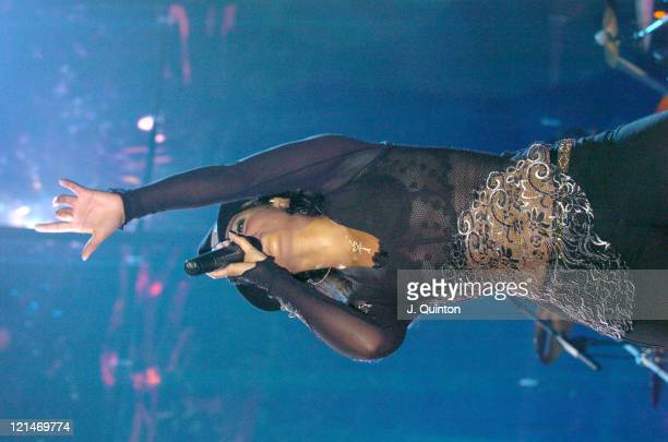 Alicia Keys during 2004 Prince's Trust Urban Music Festival Day Two at Earls Court in London Great Britain