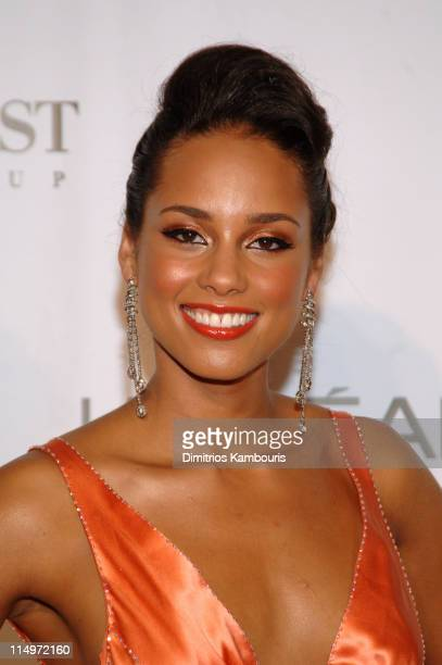 Alicia Keys during 2005 Fashion Rocks Arrivals at Radio City Music Hall in New York City New York United States