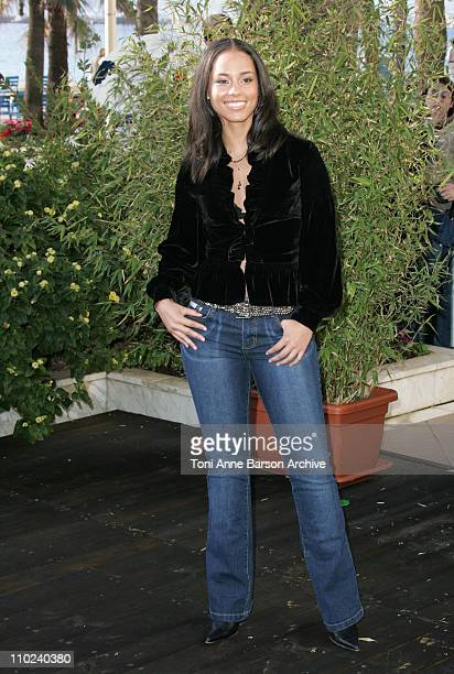 Alicia Keys during 2005 NRJ Music Awards Alicia Keys Photocall at Carlton Hotel in Cannes France